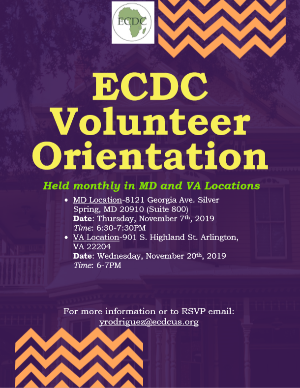 ECDC Volunteer Orientation
