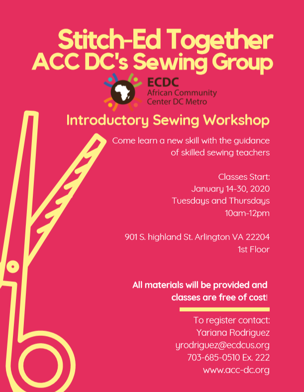 Q1 Introductory Sewing Workshop
